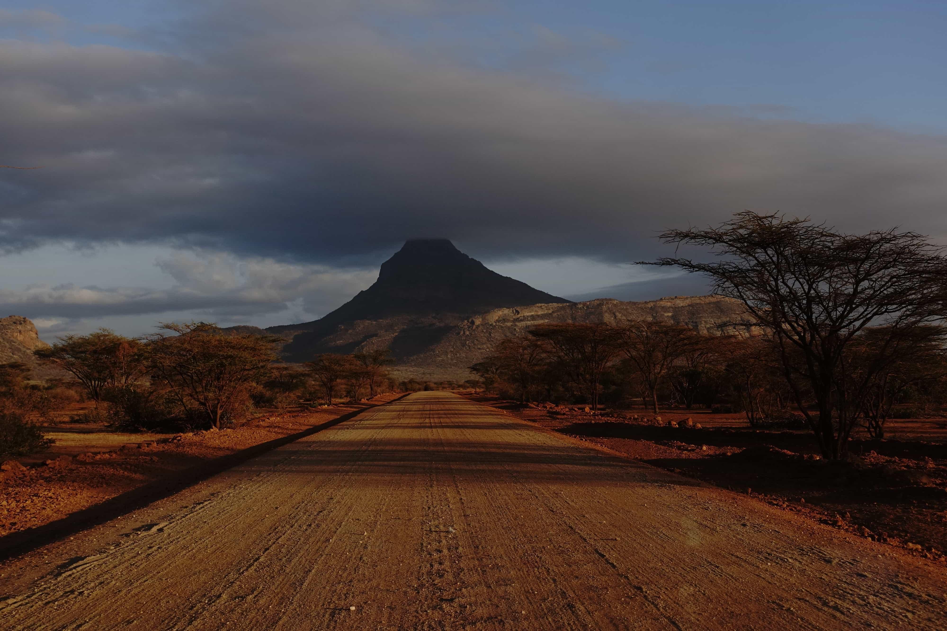 Vejen til landsbyen Marsabit, som er blevet flyttet af Lake Turkana Wind Power projekt. Foto: Shafiur Rahman, Danwatch.