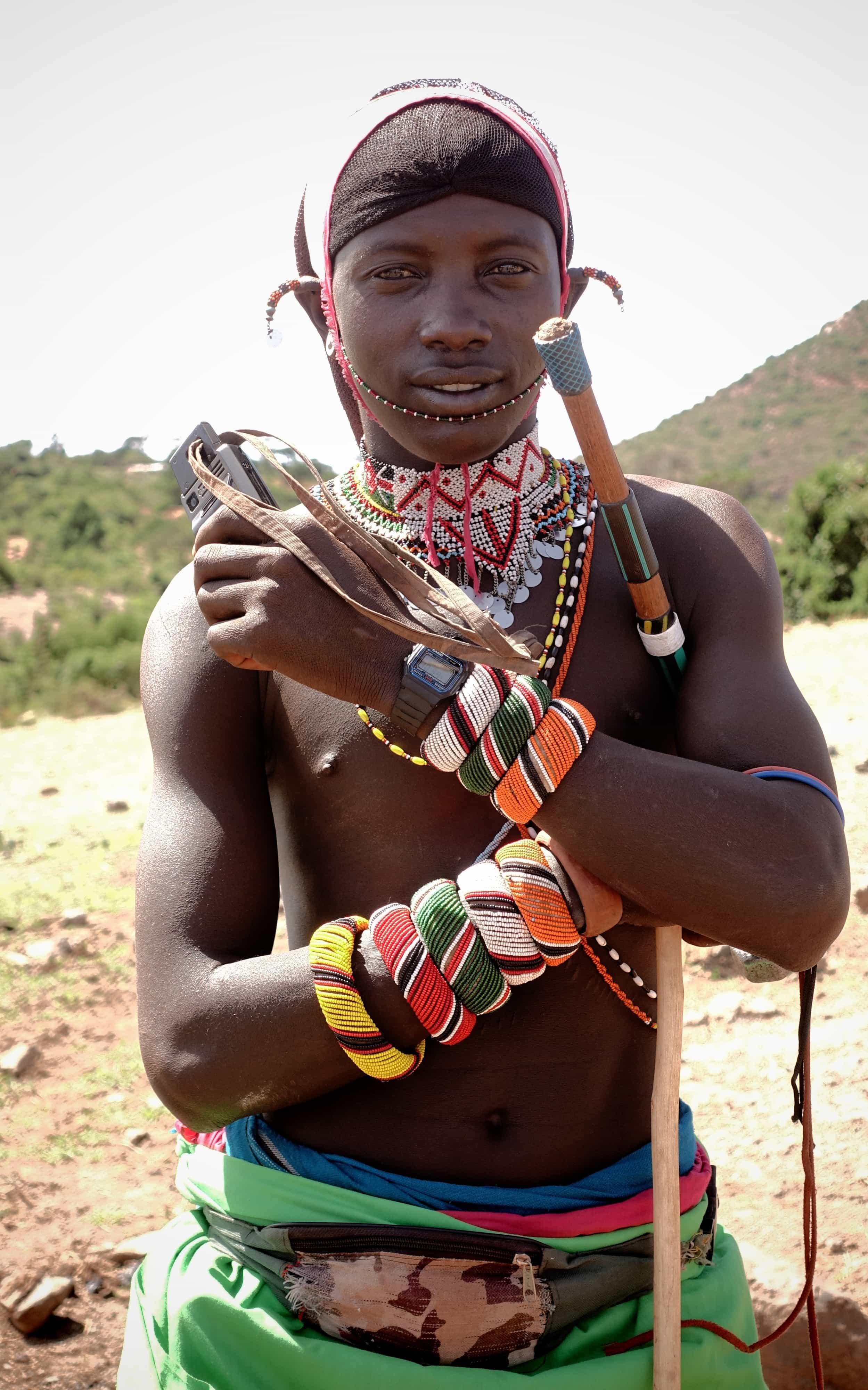 Ung Samburu-kriger fra Gatab, Mt Koulal. Foto: Shafiur Rahman, Danwatch.