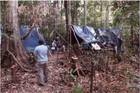 Skovhuggerne var tvunget til at bo i inhumane forhold, i dårlige telte med presenninger, uden adgang til rent vand og med mad, som blev opbevaret uhygiejnisk.