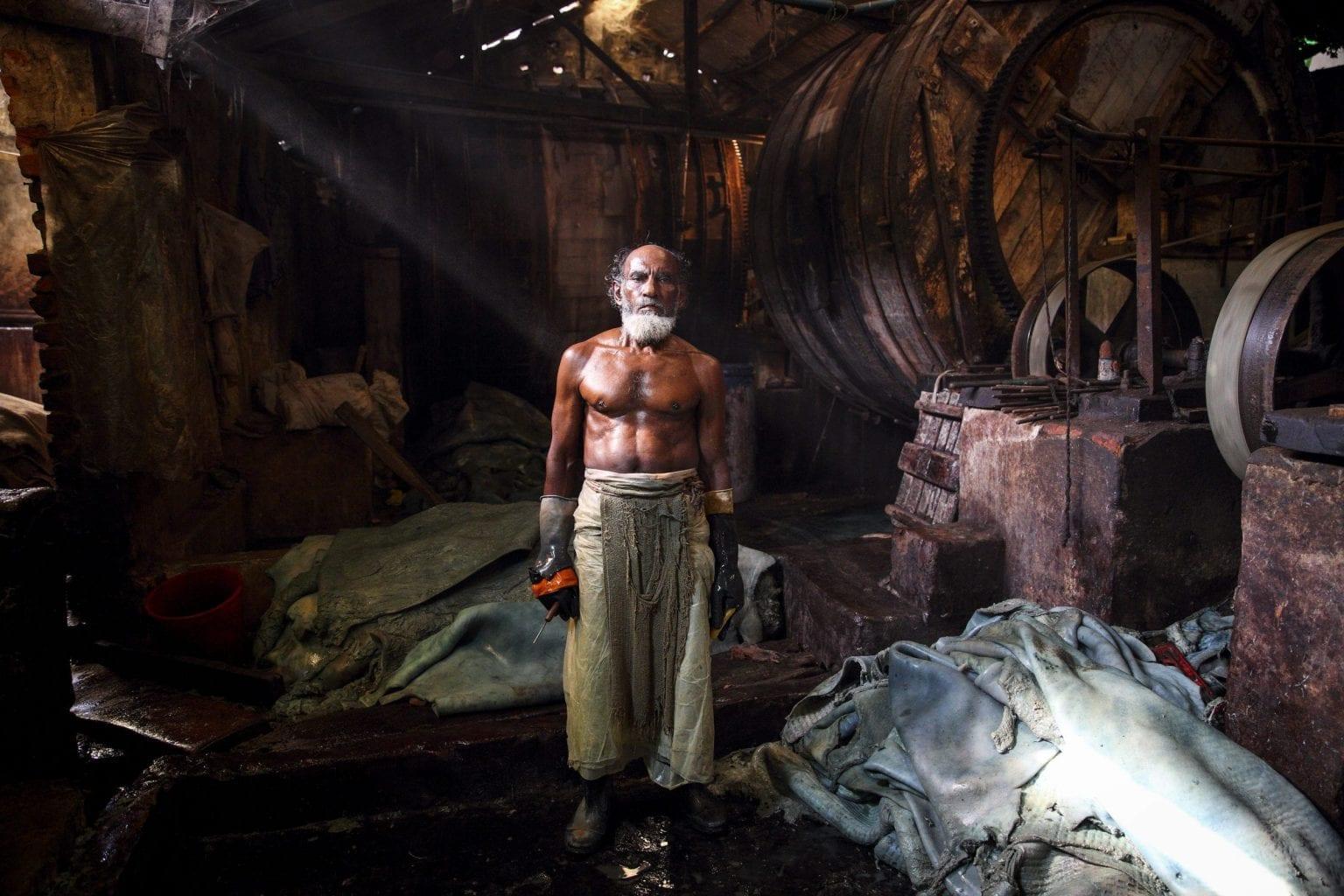 Garveriarbejder i Bangladesh. Foto: GMB Akash