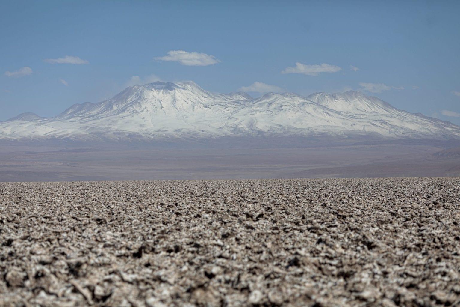 Saltskorpe i Atacama.