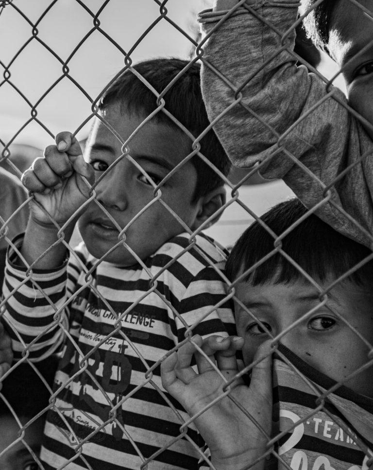 Børn i Mavrovouni-lejren. Foto: Mikkel Rönnau.
