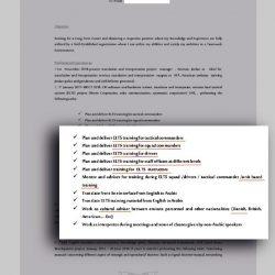 """Et CV fra den jordanske tolk og kulturelle rådgiver Salem al-Zude, der har arbejdet for Systematic i Emiraterne, viser, at træningen af det emiratiske militær omfatter en lang række personalegrupper på alle niveauer, heriblandt højtstående officerer, delingsførere, stabsofficerer og chauffører. """"ELTS"""" er en forkortelse for Emirates Land Tactical System, som er navnet på Systematics projekt hos Emiraternes militær."""