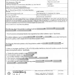 FDA's rapport efter besøg på indisk klinik